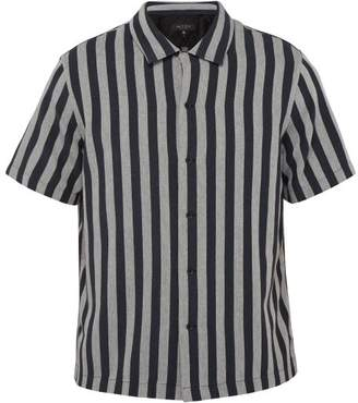 Rag & Bone Avery Striped Herringbone Cotton Twill Shirt - Mens - Black White