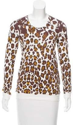 Stella McCartney Leopard Long Sleeve Top
