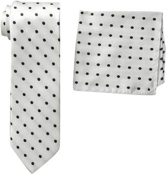 Stacy Adams Men's Satin Dot Tie Set