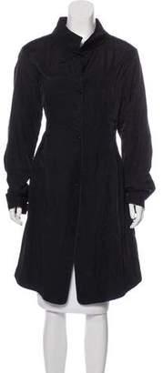 Donna Karan Woven Long Coat