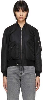 Saint Laurent Black Nylon Bomber Jacket