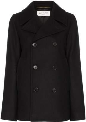 Saint Laurent double-breasted pea coat
