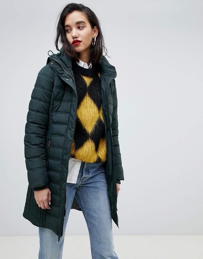 Mid Padded Jacket With Hood