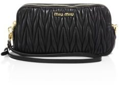 Miu Miu Matelasse Leather Wristlet