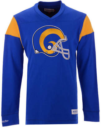 Mitchell & Ness Men's Los Angeles Rams Team Captain V-Neck Long Sleeve T-Shirt