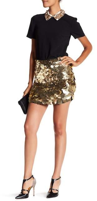 Trina Turk Mini Kalina Large Sequin Skirt