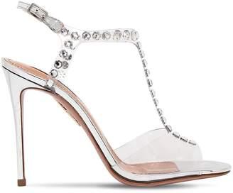Aquazzura 105mm Shine Plexi & Crystals Sandals