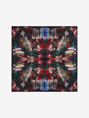 Alexander McQueen Dripping Flower Silk Scarf