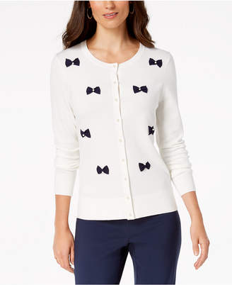 Charter Club Bow-Embellished Cardigan, Created for Macy's