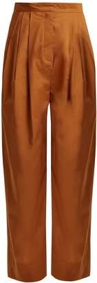 Vika Gazinskaya High-rise tapered-leg cotton trousers