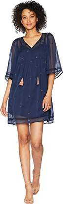 Lucky Brand Women's Peasant Tassle Dress