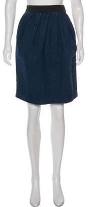Lanvin Denim Knee-Length Skirt