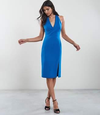 Reiss ABRIANA WRAP FRONT DRESS Royal Blue