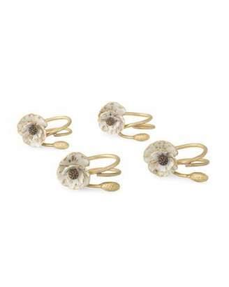Michael Aram Anemone Napkin Rings, Set of 4