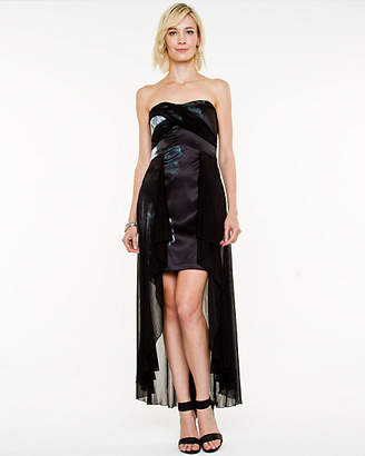 Le Château Floral Satin High-Low Dress