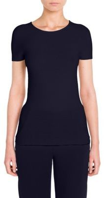 Giorgio Armani Short Sleeve Knit Top $525 thestylecure.com