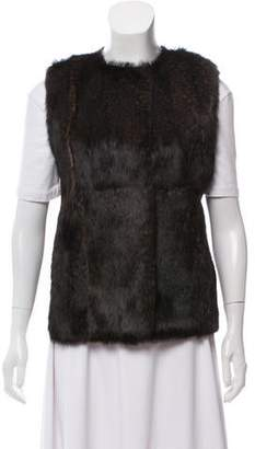Reed Krakoff Leather Fur-Accented Vest