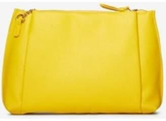 Dorothy Perkins Womens Yellow Pouch Zip Top Clutch Bag