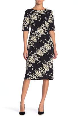 Ronni Nicole Printed Midi Dress