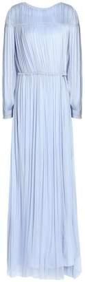 Amanda Wakeley Open-Back Gathered Silk Gown