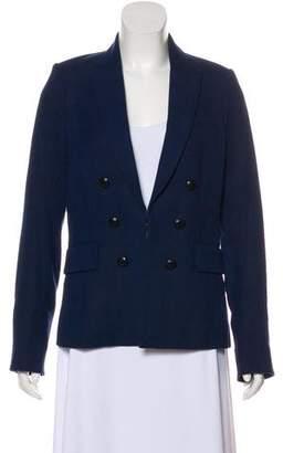 Veronica Beard Virgin Wool-Blend Long Sleeve Blazer