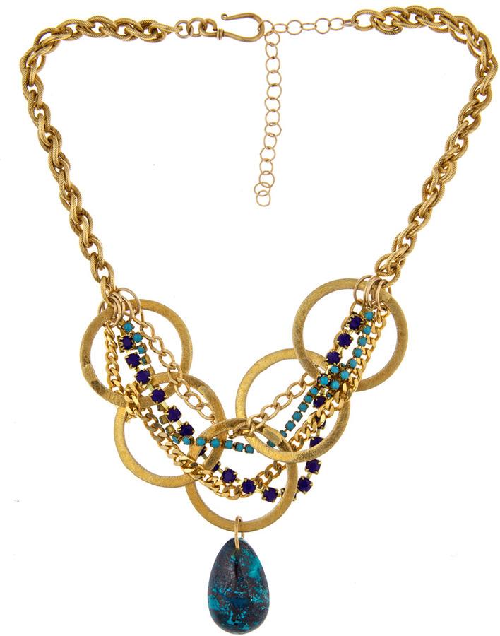 Annie Hammer Vintage Malocite Necklace