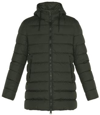 Herno Chamonix Hooded Quilted Down Jacket - Mens - Green