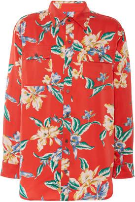 Lost Daze Floral-Print Silk Shirt