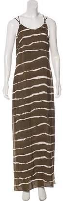 Halston Printed Maxi Dress