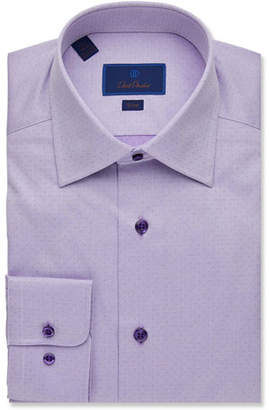 David Donahue Men's Slim-Fit Micro-Dot Dress Shirt