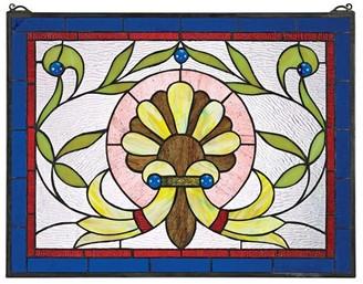 Toscano Design Prairie Flower Stained Glass Window