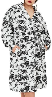 ELVI The Eave Floral Trench Coat