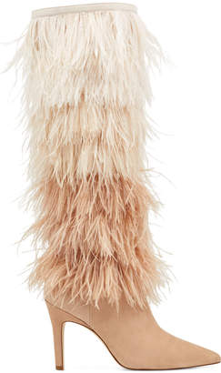 Nine West Questforu Boots with Feathers