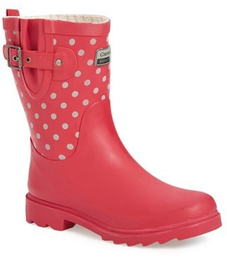 Chooka Women's Chooka 'Flash Dot' Reflective Waterproof Rain Boot