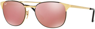 Ray-Ban Sunglasses, RB3429M 58 SIGNET MIRROR COLLECTION $195 thestylecure.com