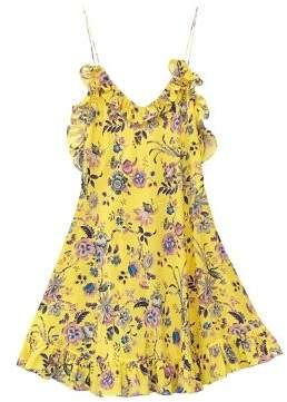 Les Reveries Ruffle Printed Cami Dress