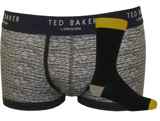 Ted Baker Marl Pattern & Fine Rib Socks & Boxer Trunk Men's Gift Set