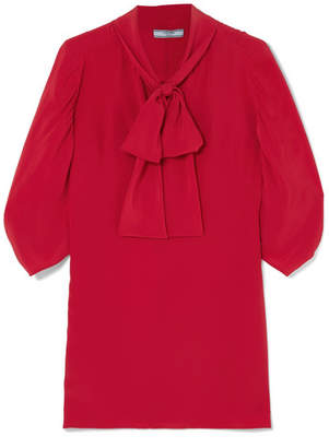Prada Pussy-bow Silk Crepe De Chine Blouse