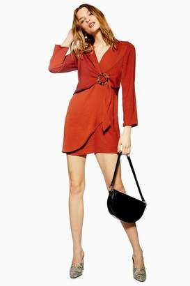 Topshop Tall Horn Ring Mini Shift Dress