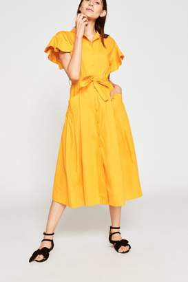 Tara Jarmon Saffron Poplin Dress