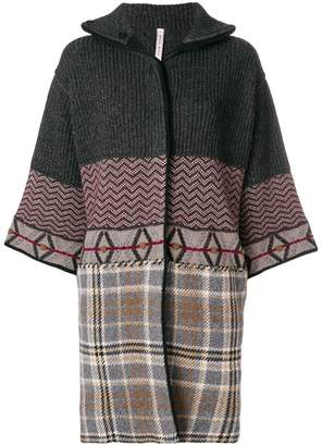 Antonio Marras patchwork cropped sleeve coat