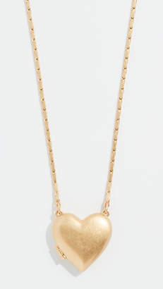 Madewell Heirloom Heart Locket Necklace