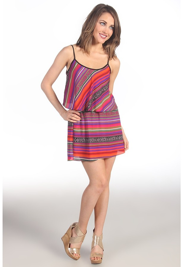 T-Bags Tbags Los Angeles Ruffle Dress with Cutout Back Women's Dress