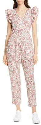 Rebecca Taylor Falaise Floral Cotton Jumpsuit