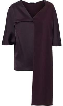 Chalayan Asymmetric Paneled Satin Top