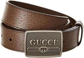 73ea947bc54 Gucci Logo Buckle Leather Belt