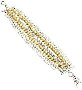 Lucky Brand Womens Pearl Layer Bracelet