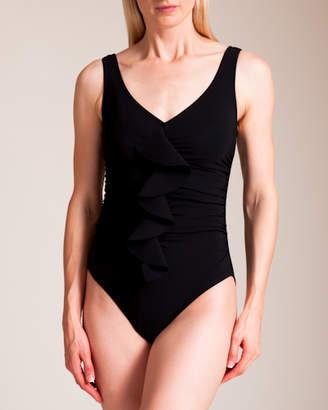 Karla Colletto Zaha V-Neck U-Wire Tank Swimsuit