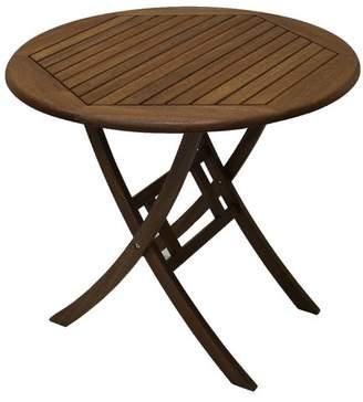 "Beachcrest Home Roseland 30"" Brazilian Eucalyptus Bistro Table"