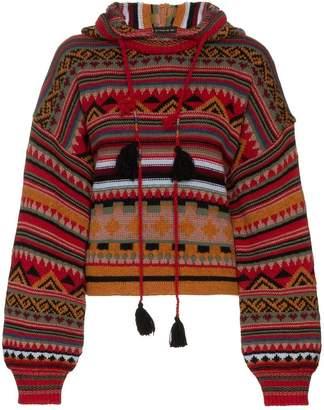 Etro wool patterned hoodie